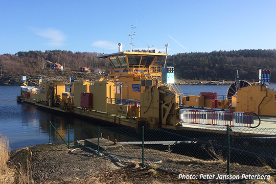 The electric powered road ferry 336 MAJ, build in year 2000. Photo: Peter Jansson Peterberg.